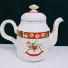 Charlton Hall Kobe Classic Traditions Japan Christmas Teapot.