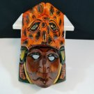 Hand Carved Wooden Mask Mayan Culture Collector Piece CM5