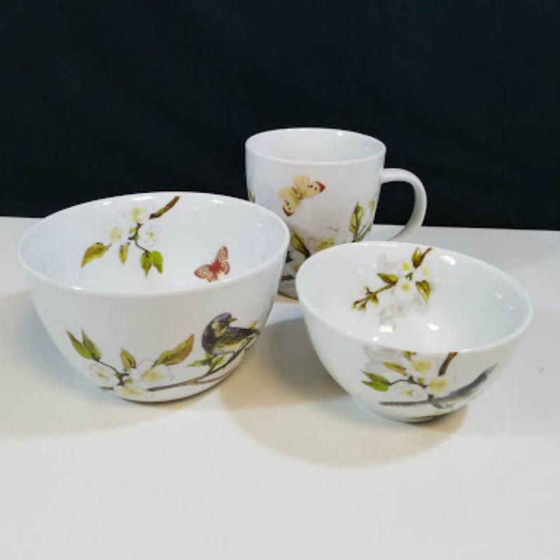 Loveramics Sparrow 3 Pcs Set Coffee Mug and Soup Dessert Bowls