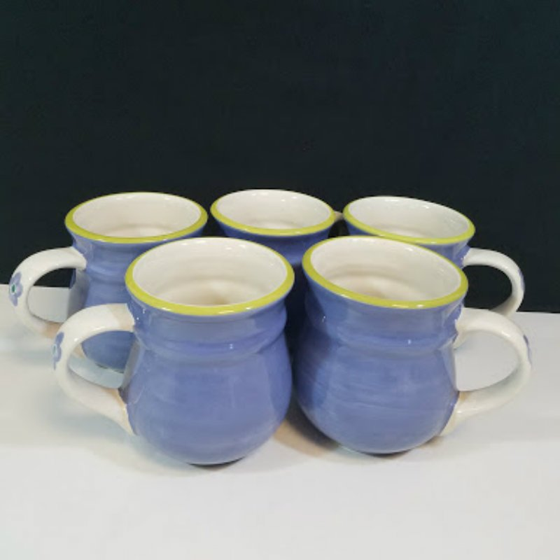 Pfaltzgraff Gillian Coffee Mugs Set of 5