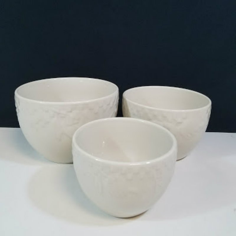 Signature Housewares Nesting Ivory Bowls Set of 3