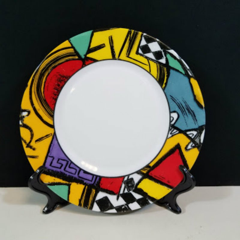 Arcopal France Patchwork Cereal Bowls and Dessert Plates