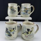 Pottery Duck Mug Tutted Stoneware Set of 4