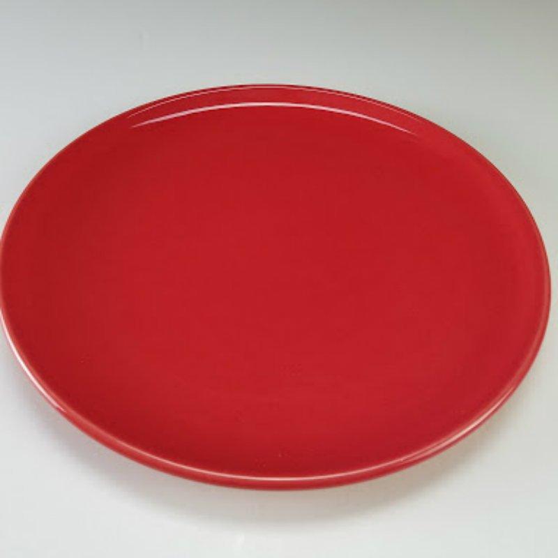Varages France Red Dinner Plates Set of 8