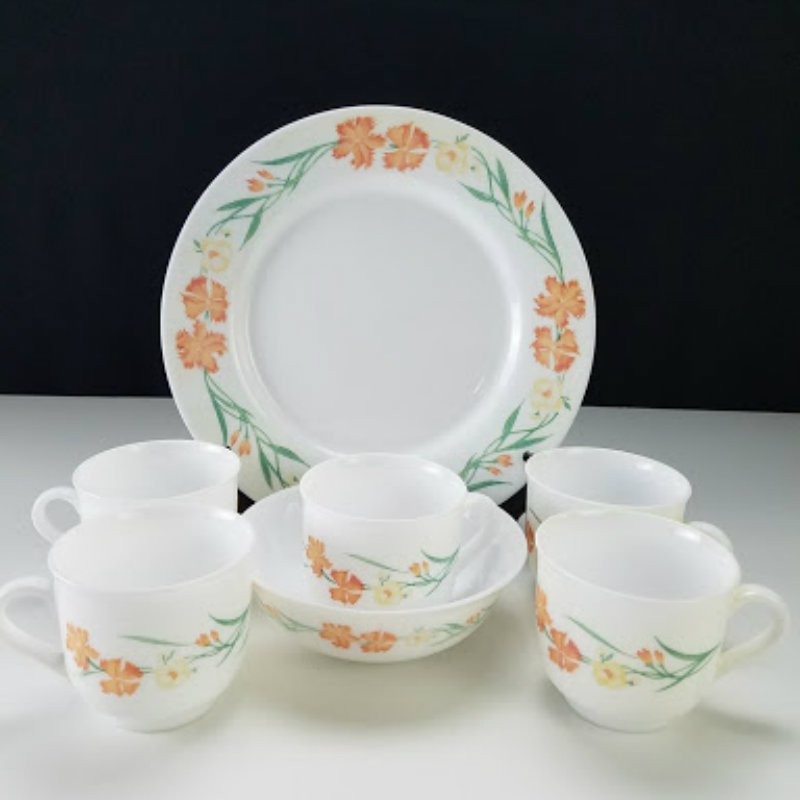 Arcopal China Wildflowers France 7 Pc Set Dinnerware