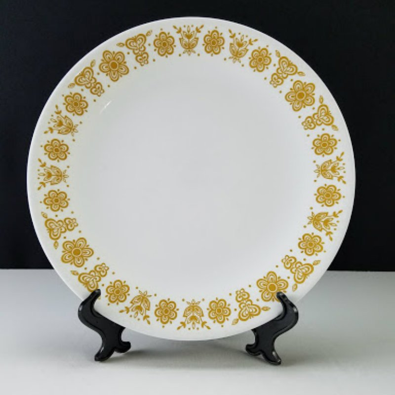 Corelle Butterfly Gold Dinner Plates Set of 8