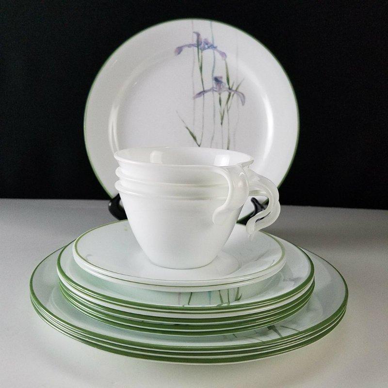 Corelle Shadow Iris Dinnerware Set of 14