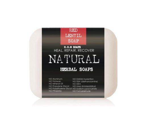Organic Red Lentil Superfood Soap Bars (Value 2 Pack)