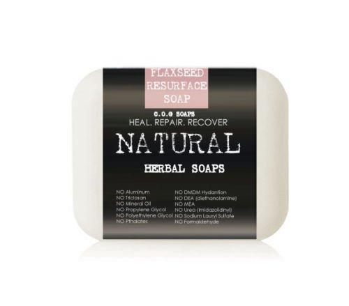 Organic Flaxseed Skin Resurfacing Soap Bars (Value 2 Pack)