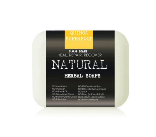 Organic Quinoa Superfood Soap Bars (Value 2 Pack)
