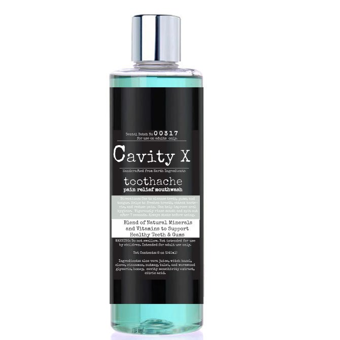 Cavity-X Toothache Pain Relief Mouthwash, Alcohol Free Formula