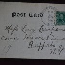 1c Green,  Frankin, Deep rich color, Very Clear Dated 1908 on Post Card