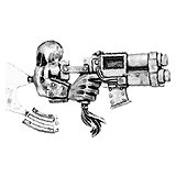 010307902 - Ork Warboss Gun Arm and Ammo Clip