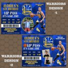 Golden State Warriors Birthday Party Invitations Photos (printed or digital)