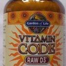 Garden of Life Vitamin Code RAW D3 5000, 60 Capsules
