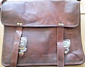 "13"" Vintage Soft Leather Laptop Messenger Bag"
