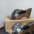 Alexis Leroy Sandal Slippers ALSF160 Size 6 Black