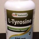 Best Naturals L-Tyrosine Capsule - 180 Count - Expires 09/2017