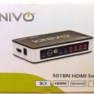 Used Kinivo 501BN 5 port High speed HDMI switch with IR Remote - 3D / 1080p