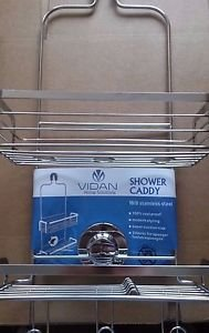 Modern Hanging Shower Caddy by Vidan Home Solutions Stainless Steel