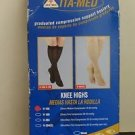 ITA-MED Sheer Knee Highs Compression 18-20 mmHg Beige Small