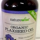 NatureWise Organic Non-GMO Flaxseed Oil Omega-3 Softgels 1000 mg - 240 count