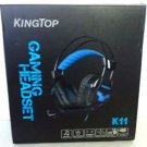 KingTop K11 Wired Stereo Gaming Headset - Black / Blue