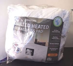 Biddeford Used Heated Quilt Mattress Pad Full Size