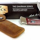 Buck Chairman Series 110 Cherry Dymondwood Handle Plain Blade 0110CWSNK-B
