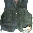 Interstate Leather Ladies Side Laced Vest Small I593 S