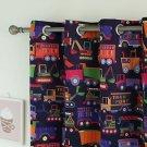 """Best Home Fashion Room Darkening Trucks Curtains - Nickel Grommet - 52""""W x 84""""L"""