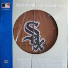 NEW MLB Chicago White Sox Solid Pine Cabinet And Bristle Dartboard Set