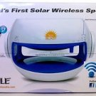 Pyle Sunblast PBTSN50 Portable Bluetooth Solar Power Wireless Speaker Blue White