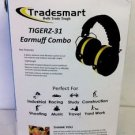 TIGERZ-31 Shooting Ear Protection Safety Muffs w/ Protective Eye Wear Kit
