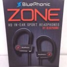 Used BluePhonic Zone Bluetooth v4.1 Wireless Sport Headphones w/ Case - Black
