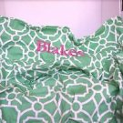 Pottery Barn Kids My First Anywhere Chair Cover Green White Blakely in Pink