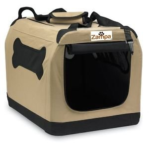 """Zampa Portable Crate - For Pets Up to 70 pounds (25"""" x 36"""" x 25"""")"""