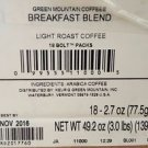 Green Mountain Breakfast Blend Coffee, Bolt Packs for Keurig Bolt (18 Count)
