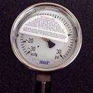 """WIKA 9744843  Industrial Pressure Gauge 30""""Hg-0-30 psi"""