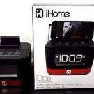 iHome Space Saver Stereo Alarm Clock - iHM51R - Black / Red