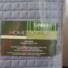 Home Source International 100% Rayon Bamboo Box Shams Pair King Black Pearl