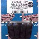 Lokar XBAG-6102 Black Brake/Clutch Pad for 1967 - 1969 Camaro / Firebird