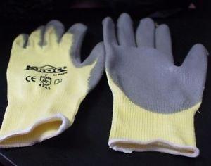 12 Pk Magid K-ROC KEV4326-7 Kevlar/Lycra Glove, Gray Polyurethane Palm Coating