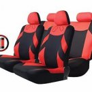 TIROL Seat Cover Set Front Seats Bench Seat Head Rest 13 Pieces - Red - T20648