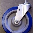 "E.R. Wagner Stem Caster Swivel Polyurethane 280 lbs 5"" x 1-1/4"" Wheel - Blue"