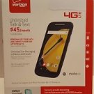 Motorola Moto E Verizon LTE Prepaid - New in Box