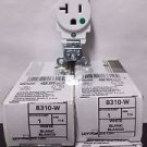 4 Pack of Leviton 8310-W 20 Amp 125 Volt Hospital Grade Self Grounding - White