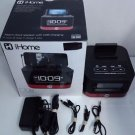 Used iHome Space Saver Stereo Alarm Clock - iHM51R - Black / Red