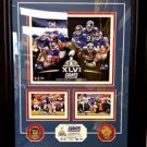 NFL NFC Champs New York Giants Super Bowl XLVI Marquee 24KT Gold Coin Photo Mint