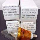 4 Pack E12 3W LED Candelabra Bulb - Warm White - 3000K - 3500K - LEDS13-WW-X4